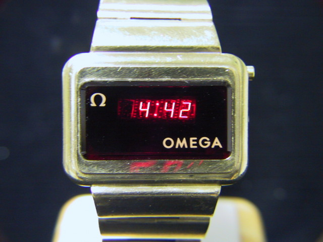 a571 omega gold filled constellation quot led quot digital wrist